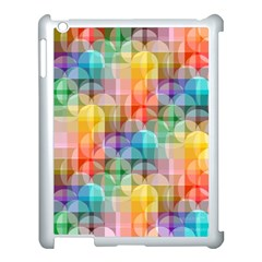 Circles Apple Ipad 3/4 Case (white) by Lalita