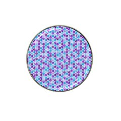 Purple Blue Cubes Golf Ball Marker 4 Pack (for Hat Clip) by Zandiepants