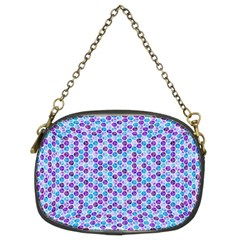 Purple Blue Cubes Chain Purse (Two Sided)  by Zandiepants