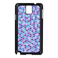 Purple Blue Cubes Samsung Galaxy Note 3 N9005 Case (black) by Zandiepants