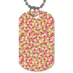 Pink Green Beehive Pattern Dog Tag (One Sided) by Zandiepants