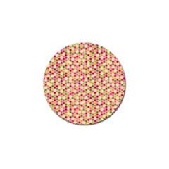 Pink Green Beehive Pattern Golf Ball Marker by Zandiepants
