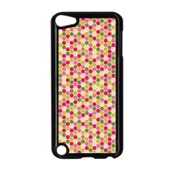 Pink Green Beehive Pattern Apple Ipod Touch 5 Case (black) by Zandiepants