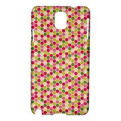 Pink Green Beehive Pattern Samsung Galaxy Note 3 N9005 Hardshell Case by Zandiepants