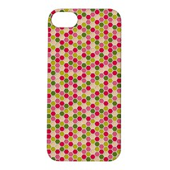 Pink Green Beehive Pattern Apple Iphone 5s Hardshell Case by Zandiepants