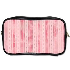 Pink Grunge Travel Toiletry Bag (two Sides)