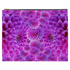 Purple Dahlias Cosmetic Bag (xxxl) by FunWithFibro