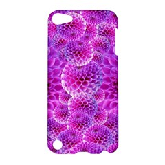 Purple Dahlias Apple Ipod Touch 5 Hardshell Case by FunWithFibro