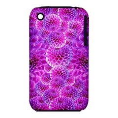 Purple Dahlias Apple Iphone 3g/3gs Hardshell Case (pc+silicone) by FunWithFibro