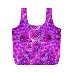 Purple Dahlias Reusable Bag (m) by FunWithFibro