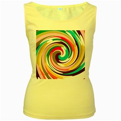 Galaxi Women s Tank Top (yellow) by Lalita