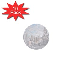 Eiffel Tower Paris 1  Mini Button (10 pack)