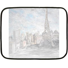 Eiffel Tower Paris Mini Fleece Blanket (two Sided) by rokinronda