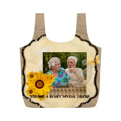 Family By Joely   Full Print Recycle Bag (m)   J248i7zz0qxs   Www Artscow Com Front