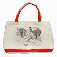Bleeding Angel 1  Classic Tote Bag (red) by 55555