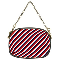 Diagonal Patriot Stripes Chain Purse (one Side) by StuffOrSomething