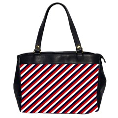 Diagonal Patriot Stripes Oversize Office Handbag (two Sides) by StuffOrSomething