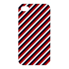 Diagonal Patriot Stripes Apple Iphone 4/4s Premium Hardshell Case by StuffOrSomething