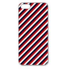 Diagonal Patriot Stripes Apple Seamless Iphone 5 Case (clear) by StuffOrSomething