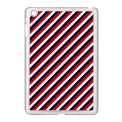 Diagonal Patriot Stripes Apple Ipad Mini Case (white) by StuffOrSomething