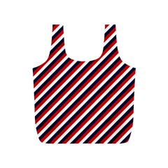 Diagonal Patriot Stripes Reusable Bag (s) by StuffOrSomething