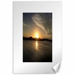 sunset beach Canvas 24  x 36  (Unframed) by thesmallmediumatlarge