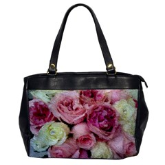 Tapestry Wedding Bouquet Oversize Office Handbag (one Side) by Khoncepts