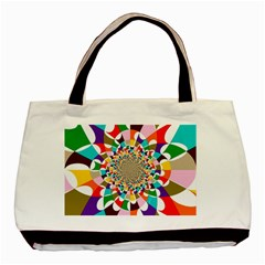 Focus Twin Sided Black Tote Bag by Lalita