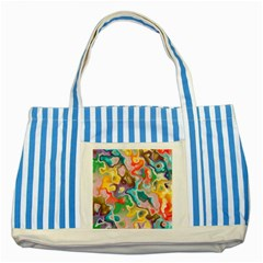 Marble Blue Striped Tote Bag by Lalita