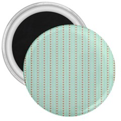 Hearts & Stripes 3  Button Magnet by StuffOrSomething