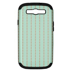 Hearts & Stripes Samsung Galaxy S Iii Hardshell Case (pc+silicone) by StuffOrSomething