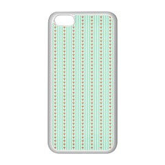 Hearts & Stripes Apple Iphone 5c Seamless Case (white) by StuffOrSomething