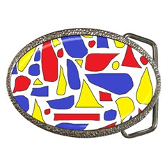 Silly Primaries Belt Buckle (oval) by StuffOrSomething