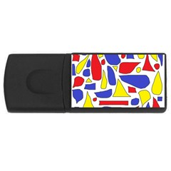 Silly Primaries 4GB USB Flash Drive (Rectangle) by StuffOrSomething
