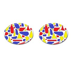 Silly Primaries Cufflinks (Oval) by StuffOrSomething