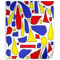 Silly Primaries Canvas 20  X 24  (unframed) by StuffOrSomething