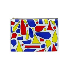 Silly Primaries Cosmetic Bag (medium) by StuffOrSomething