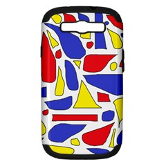 Silly Primaries Samsung Galaxy S Iii Hardshell Case (pc+silicone) by StuffOrSomething