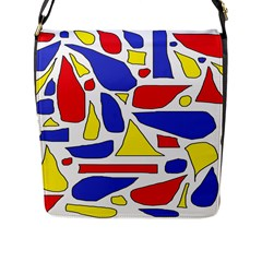 Silly Primaries Flap Closure Messenger Bag (large) by StuffOrSomething