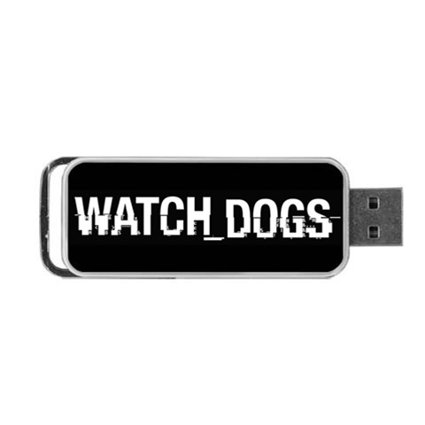 Watch Dogs Thumbdrive By Jasonwsc   Portable Usb Flash (one Side)   Omuogmu96hyt   Www Artscow Com Front