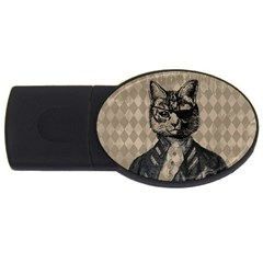 Harlequin Cat 2gb Usb Flash Drive (oval) by StuffOrSomething