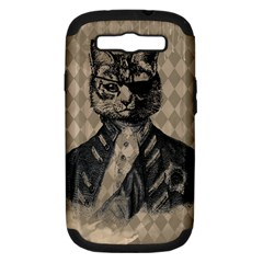 Harlequin Cat Samsung Galaxy S Iii Hardshell Case (pc+silicone) by StuffOrSomething