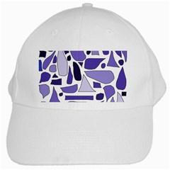 Silly Purples White Baseball Cap by FunWithFibro