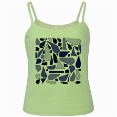 Silly Purples Green Spaghetti Tank by FunWithFibro