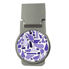 Silly Purples Money Clip (round) by FunWithFibro