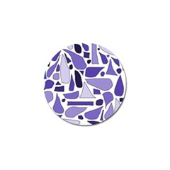 Silly Purples Golf Ball Marker by FunWithFibro