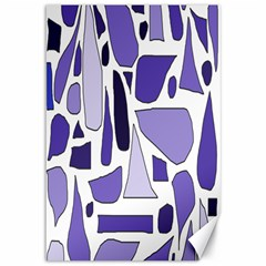 Silly Purples Canvas 12  X 18  (unframed) by FunWithFibro