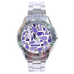 Silly Purples Stainless Steel Watch by FunWithFibro