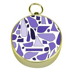 Silly Purples Gold Compass by FunWithFibro