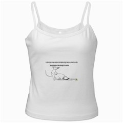 Better To Take Time To Think White Spaghetti Tank by Doudy